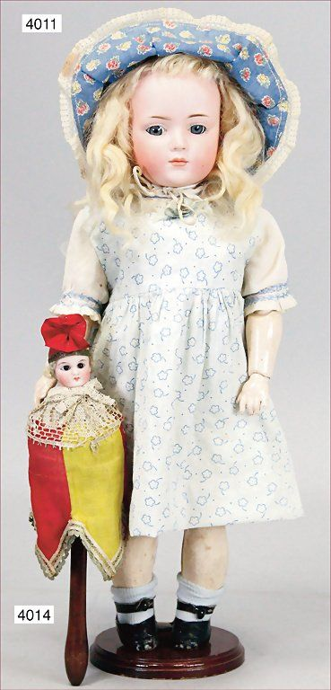 KLEY & HAHN 546- 5. biscuit porcelain, character doll, :