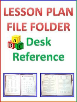 Lesson Plan File Folder Lesson Planning Desk Reference Lesson