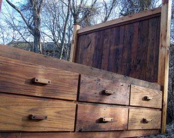 rustic platform beds with storage. Fine Platform Custom Made 12 Drawer Rustic Reclaimed Wood Platform Storage Bed And Beds With D