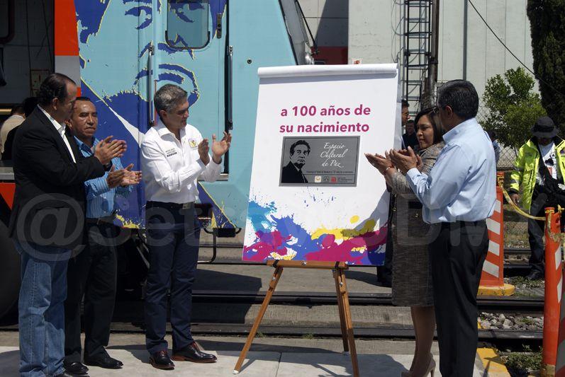 También develaron una placa conmemorativa al poeta mexicano, que se instalará en la estación Mixcoac.