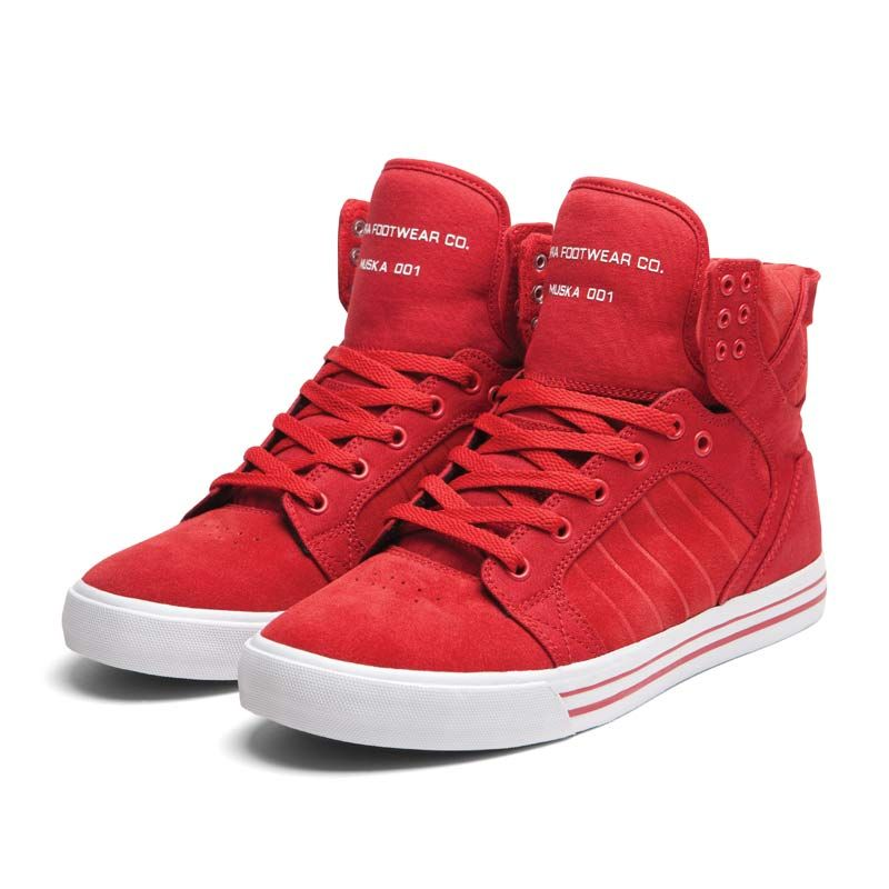 NIB Supra Skytop Red/White S18151 Men Hip Hop Athletic Shoes All Sizes