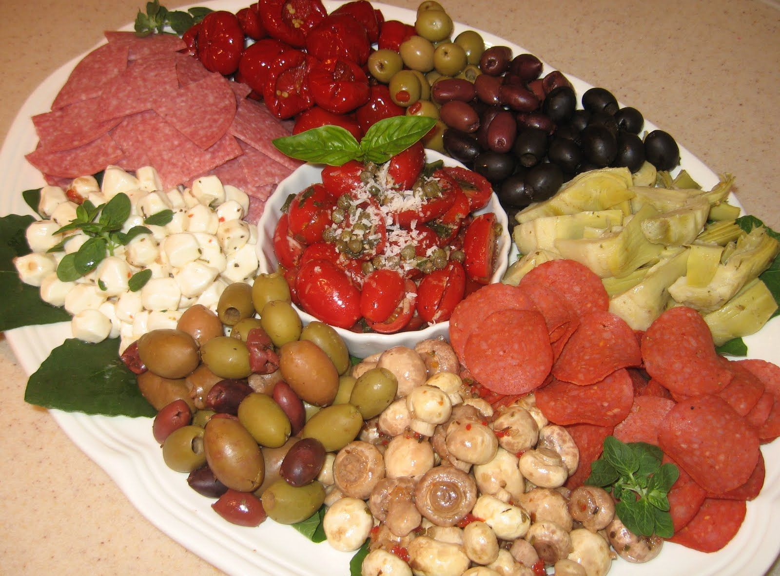 images antipasto platters | Antipasto Platter with Grape Tomato & Caper Salad {Party Series 3}