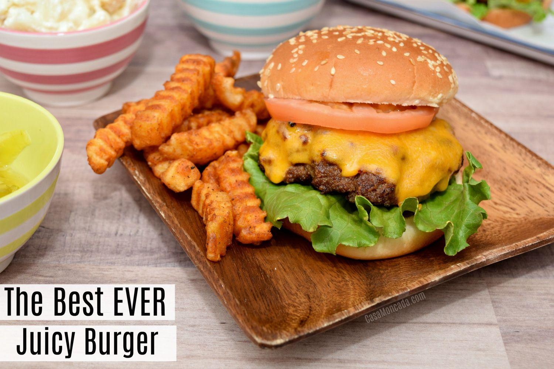 The Best Ever Juicy Burger Juicy Burger Recipe Juicy Hamburgers Burger