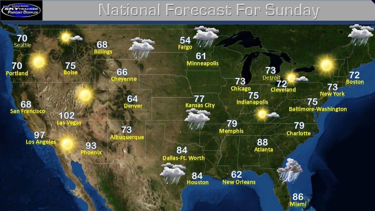 Tomorrow Weather Forecast For Across The Nation From Innovation Weather Check Us Out At Www Innovationwea An With Images Baltimore Washington Weather Weather Forecast