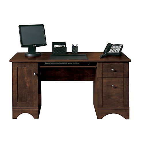 computer desks office depot. Desk Cinnamon Cherry, This Computer With CPU Storage Keeps Your Tower Out Of Sight, Slide Keyboard Shelf Helps Save Space At Office Depot Desks U