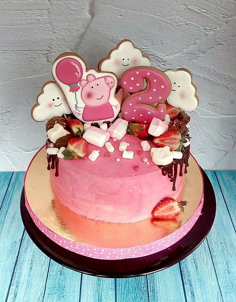 Pin By Aniek Vissers On Moj Tortik Peppa Pig Cake Pig Birthday Cakes Peppa Pig Birthday Cake