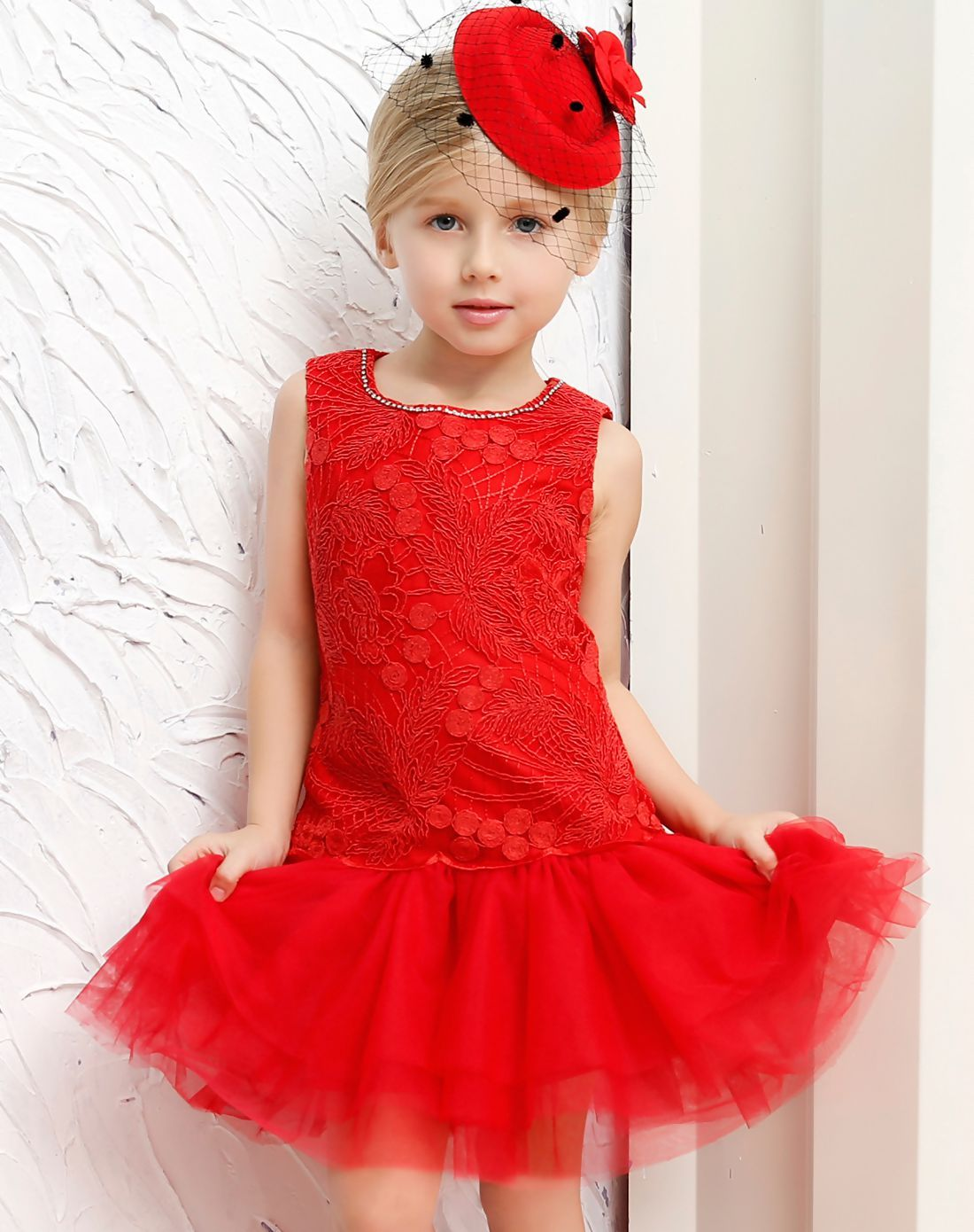 AdoreWe #VIPme A-Line Dresses❤️Designer CANDYDOLL Red Sleeveless ...