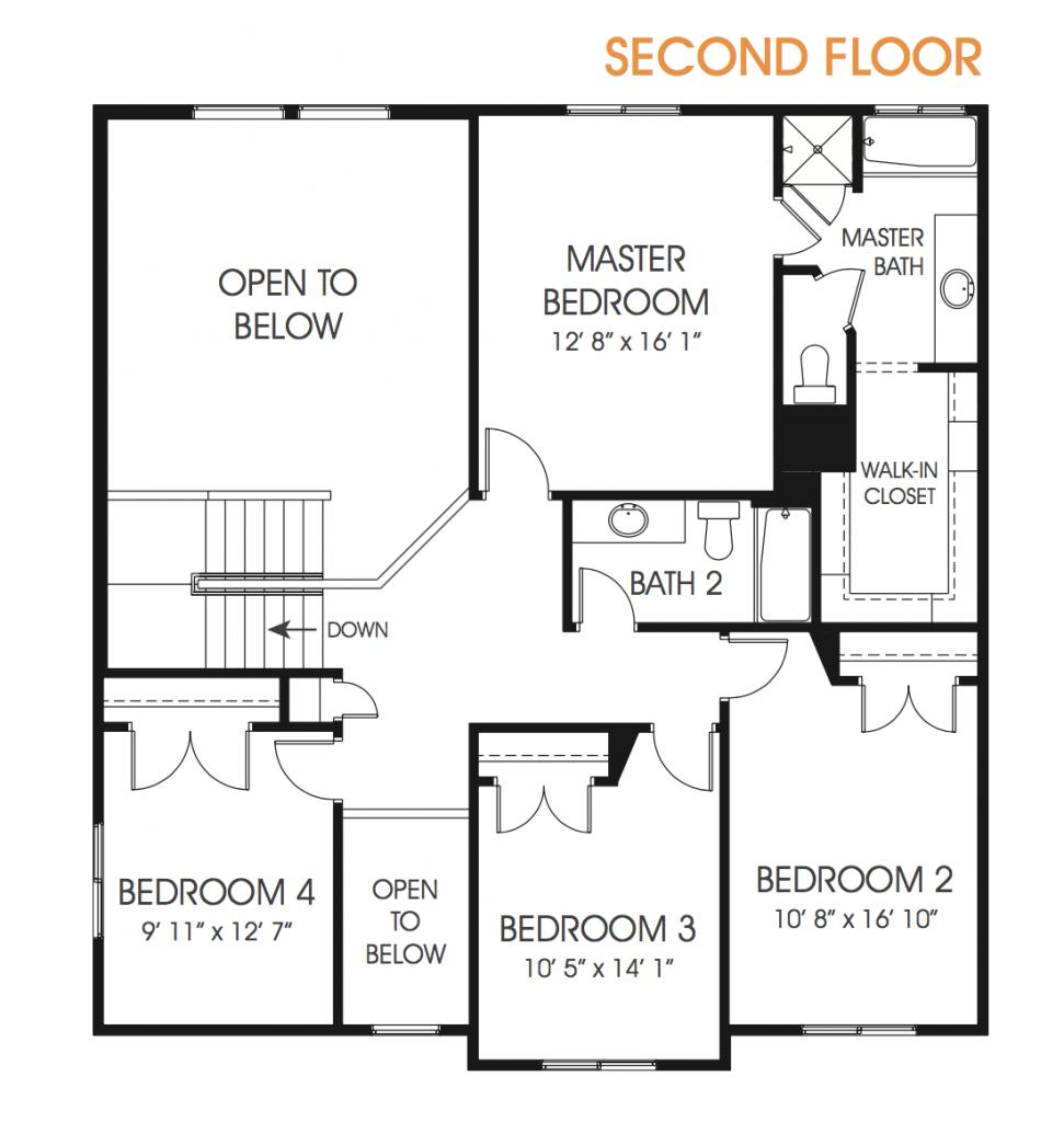 Lauren New Utah Two Story Floor Plan Edge Homes Floor Plans Craftsman Floor Plans Luxury Plan
