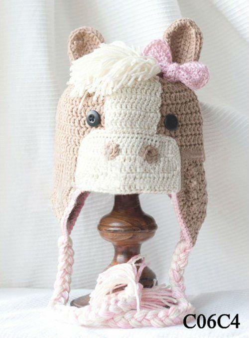Mode animaux molletoné warmcrochet chapeaux pour enfants, belle ...