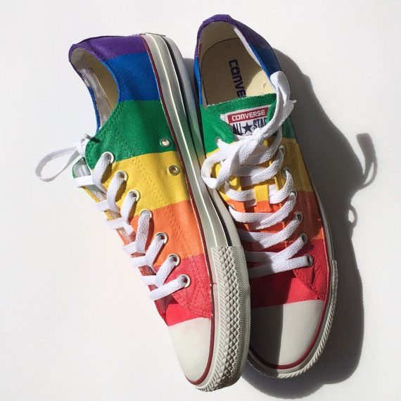 c282363a2457  MarriageEquality  GayPride Converse Shoes by IntellexualDesign