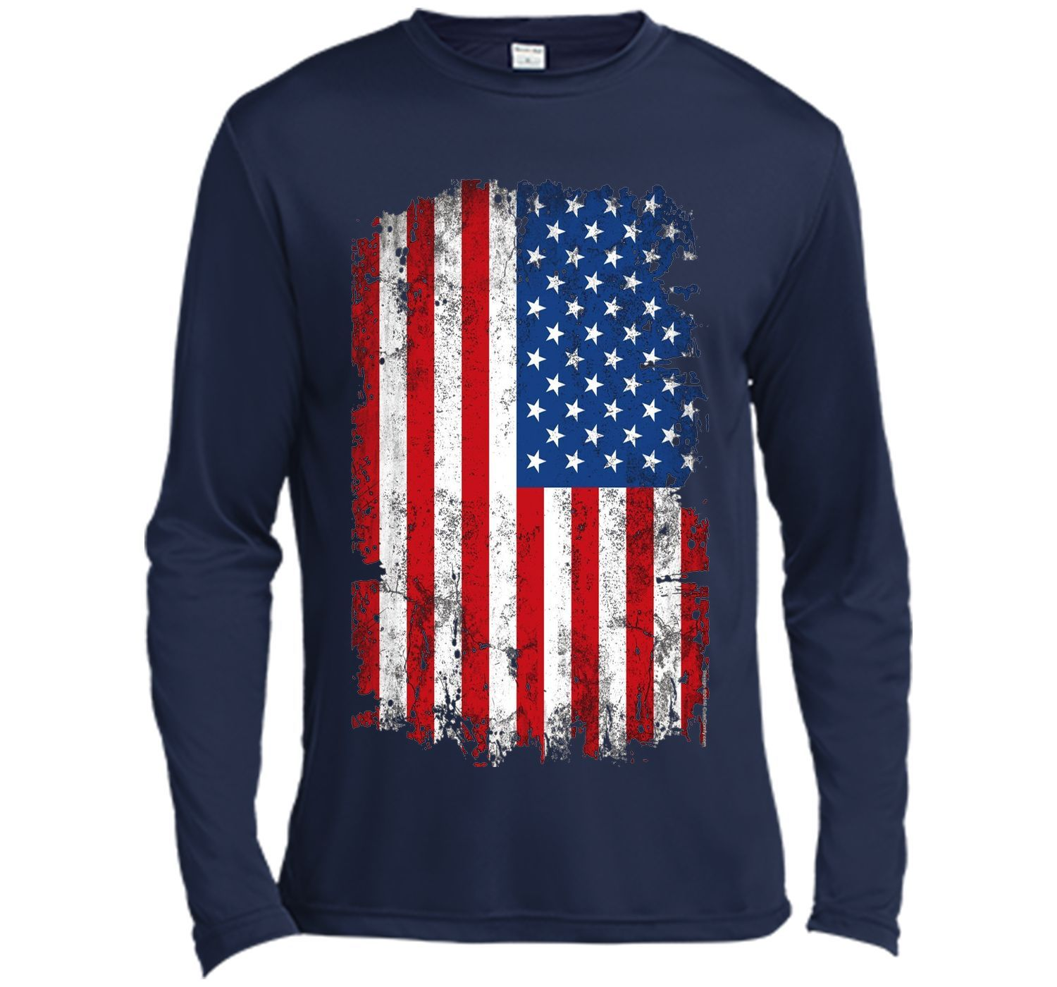 Vintage Patriotic American Flag 4th of July Family T-Shirt