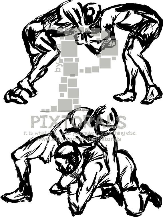 2 Wrestlers Vector Wrestlers As High Res Pdf And Eps