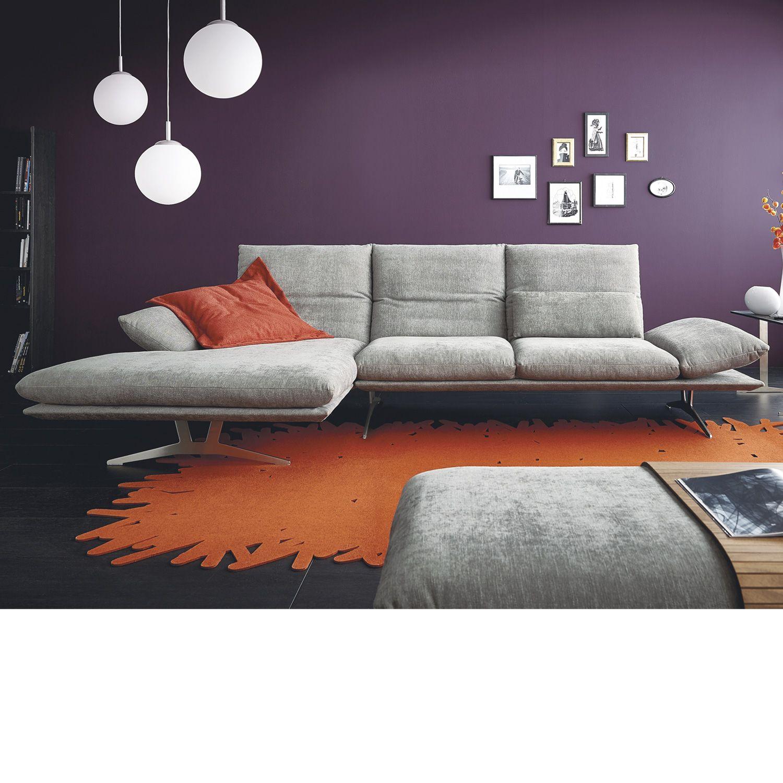 Koinor Wohnlandschaft Francis In Grau Sofa Sofa Clean Lines Und