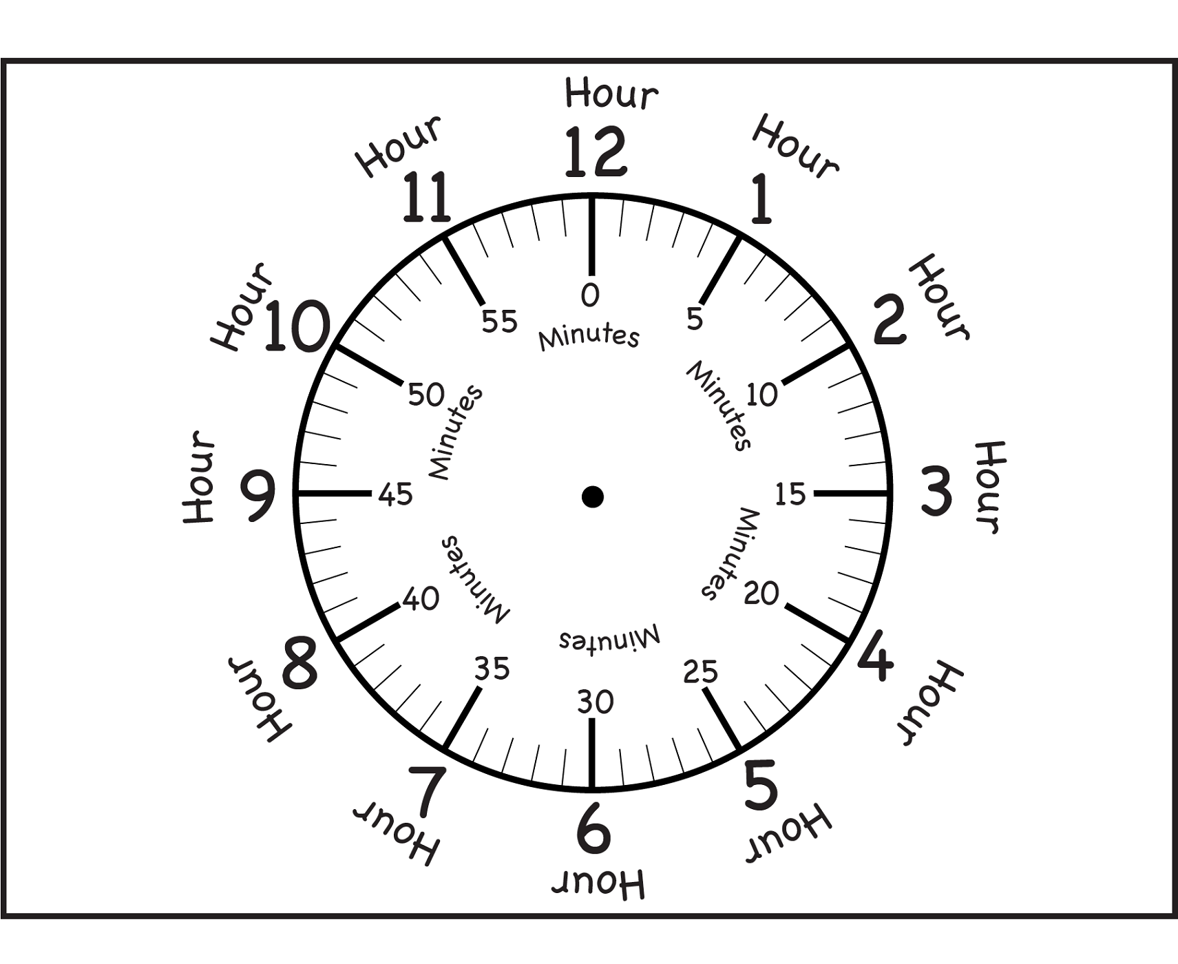 Worksheets Blank Clock Face Worksheet Printable printable clock for media reading fancy stuff pinterest face clock
