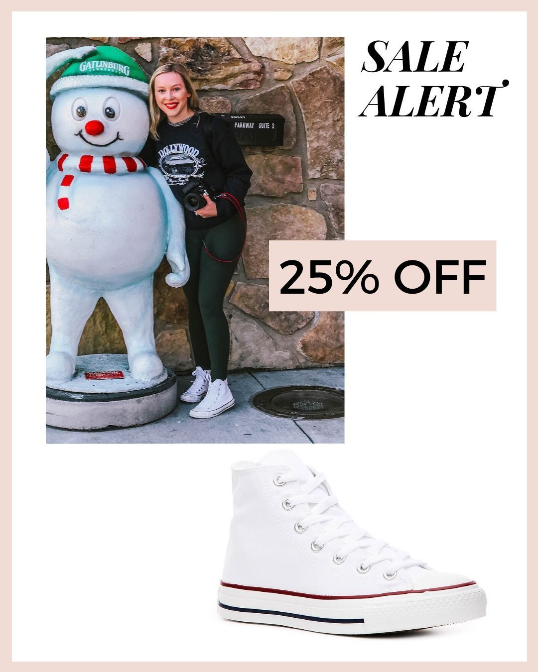 Converse white high tops on sale for 25