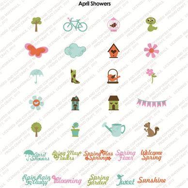 Cricut April Showers Seasonal Cartridge Business Pinterest