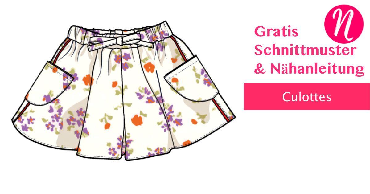 Culottes für alle Größen - Damen und Mädchen - Tutorial   Nähen für ...