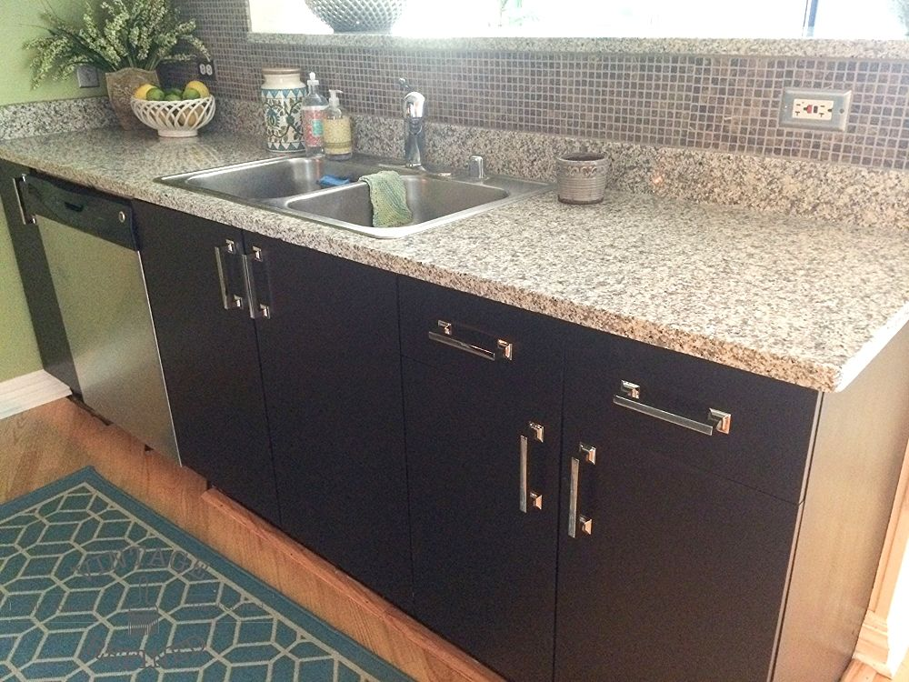 Gel Staining Kitchen Cabinets Stained Kitchen Cabinets Black