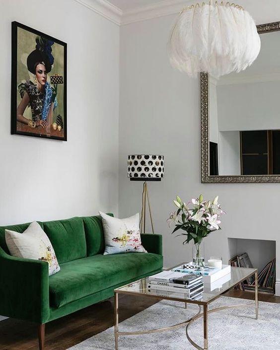 Digging Emerald Green Interiors Colour Your Casa Living
