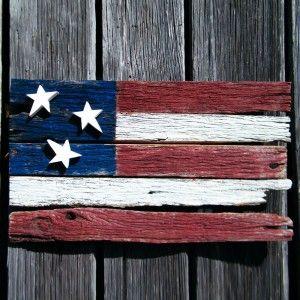 Americana Barnwood Flag Handmade Wooden American Flag Pallet Art Flag