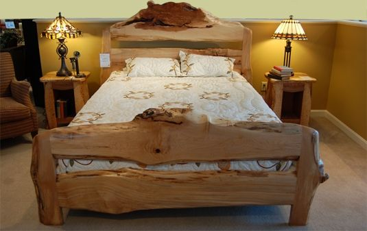 Unique Live Edge Beds Google Search Wooden Bed Frames
