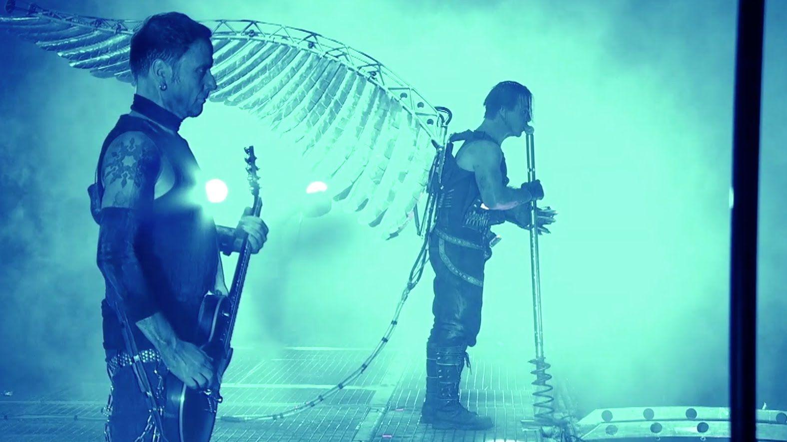 German Rock Band Rammstein - Preforming Engel (Live from