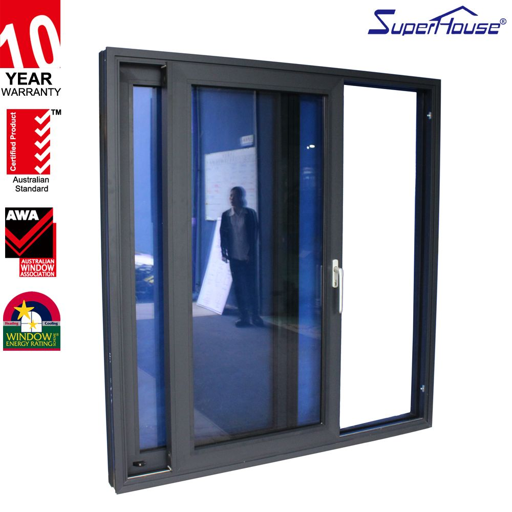 Superhouse Aluminium Automatic Sliding Patio Door With Fly Screen