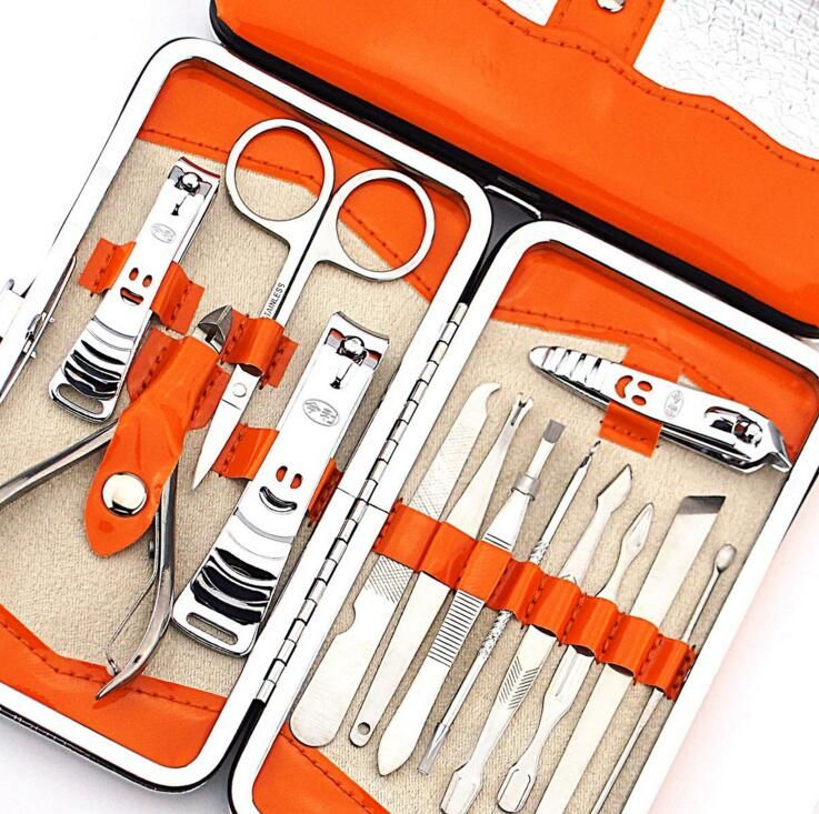 13pc Nail File Tool Manicure Set with Cutter Clipper Ear Pick Dead ...