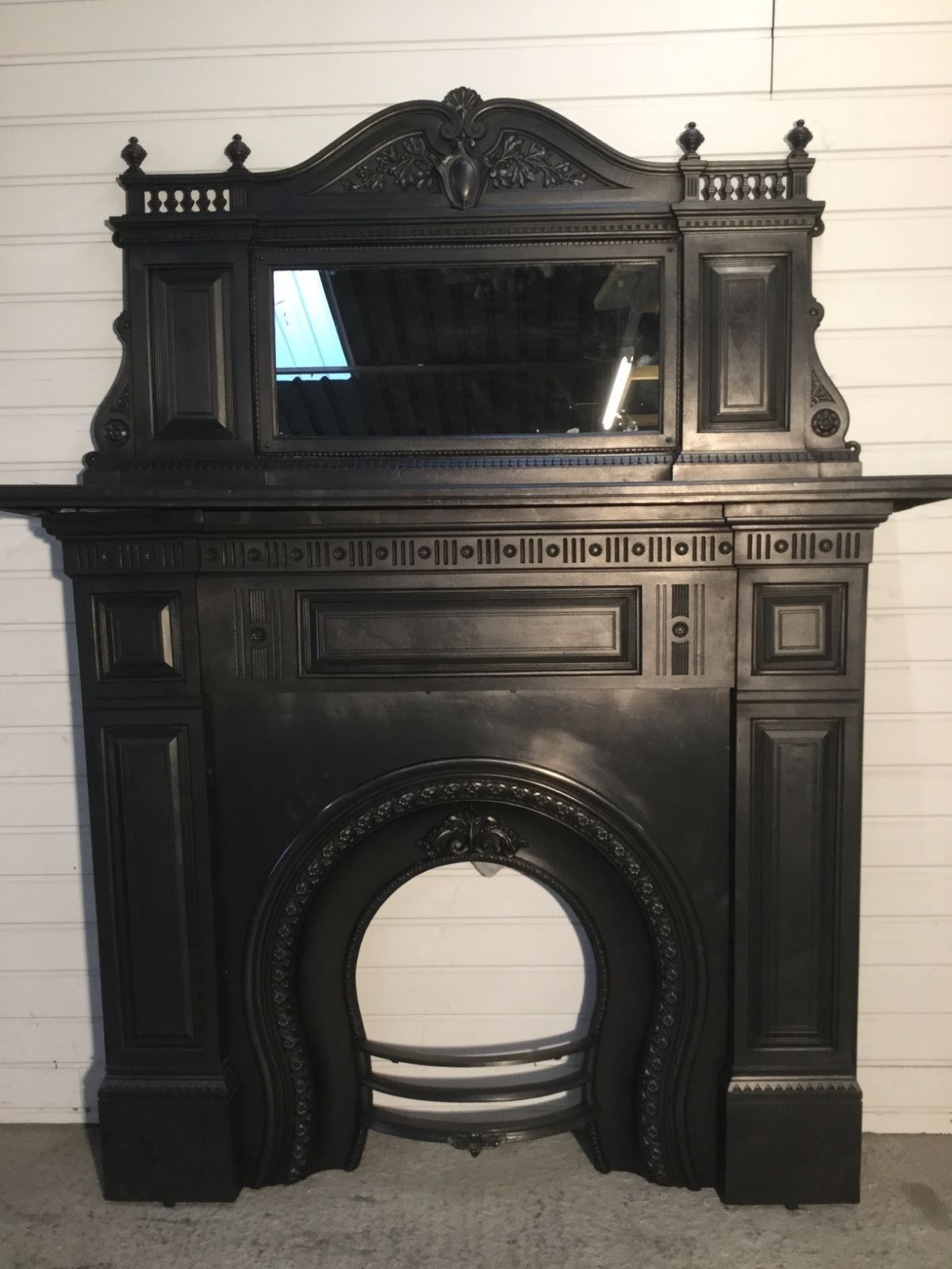 Victorian Fireplace Cast Iron Surround Amp Overmantle