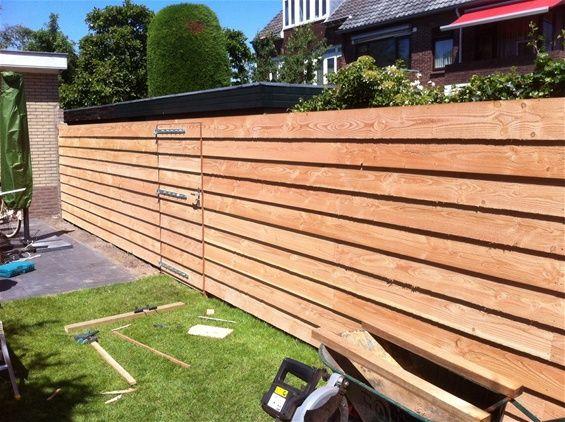 Tuin schutting douglas google zoeken schuttingen fences pinterest schutting zoeken en - Latwerk houten ...