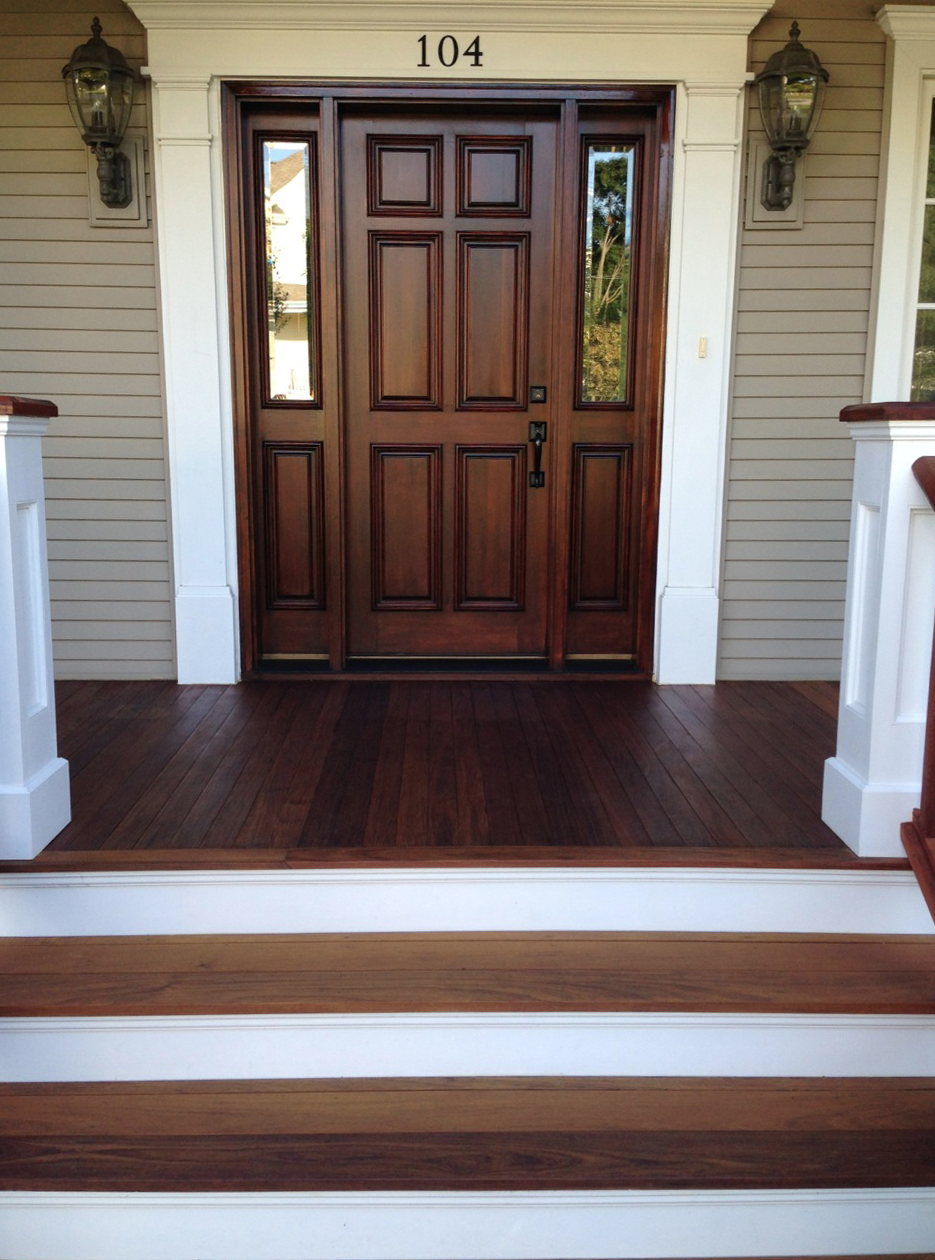 Here a recent project we completed on a house in the northwest suburbs of chicago the refinishing of an ipe wood front porch floor
