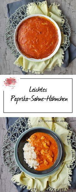 Leichtes Paprika-Sahne-Hähnchen - Experimente aus meiner Küche
