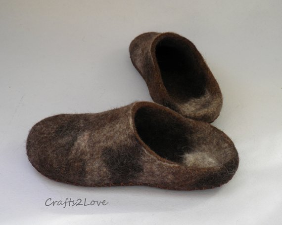 Felted Slippers For Woman Felt Slippers Felted Wool Slippers Warm