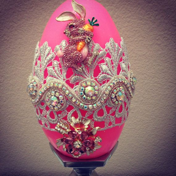 Easter Faberge Egg Candle by SuzieSharrattDesigns on Etsy