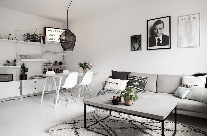 Minipiso sueco, moderno y juvenil Decoracion espacios pequeños - decoracion de espacios pequeos