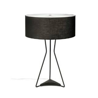 Check Out The Estiluz M 2817 26 27 Testa 3 Light Halogen Table Lamp In Black With White Shade Lamp Contemporary Table Lamps Modern Table Lamp