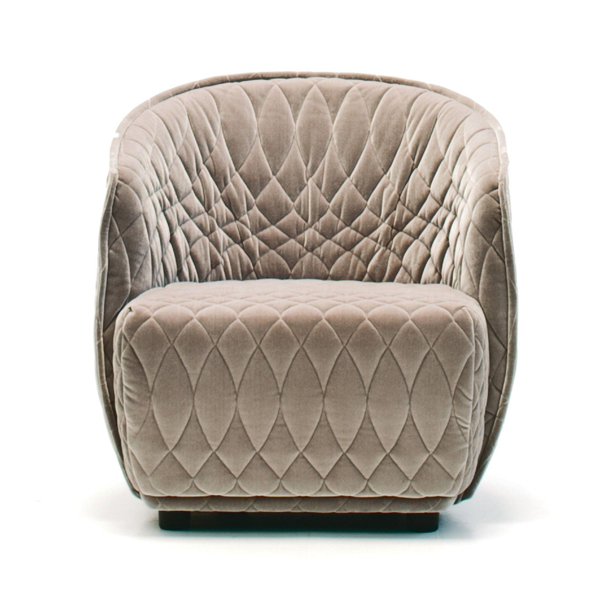 Petit Fauteuil REDONDO marron - MOROSO | Furniture ...
