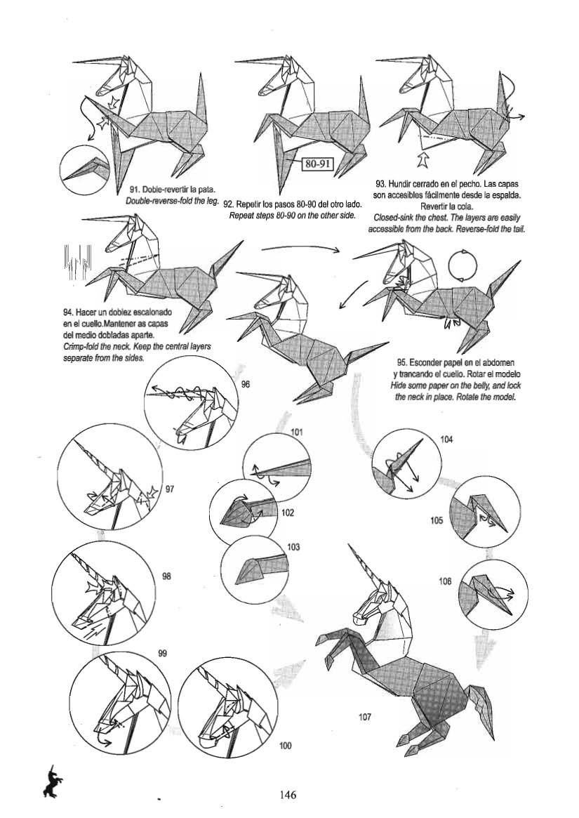 unicorn origami 5 me pinterest origami origami dragon and rh pinterest com