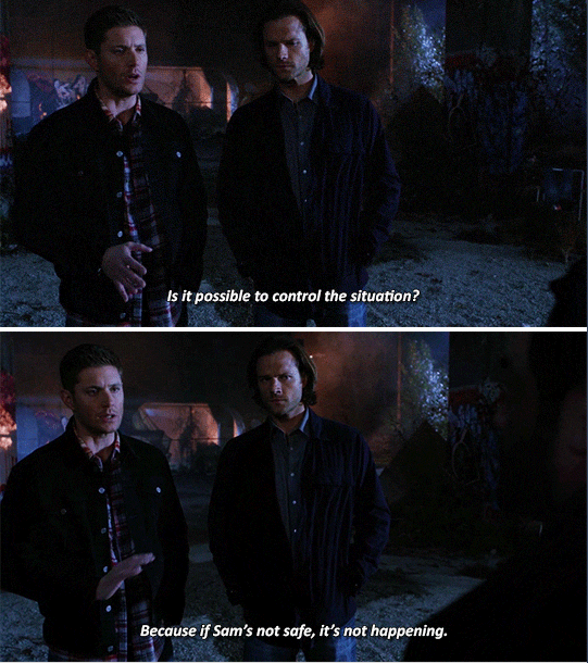 Supernatural 11x08 O Brother Where Art Thou? Dean being protective over Sam