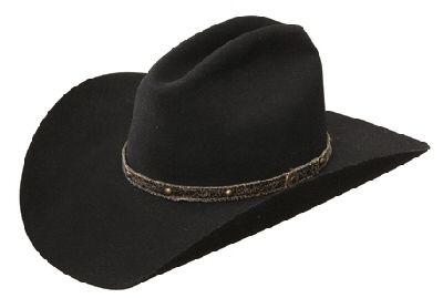 76f6cb5c53e Worn By Jason Aldean!! Resistol Tattoos Black Wool Hat