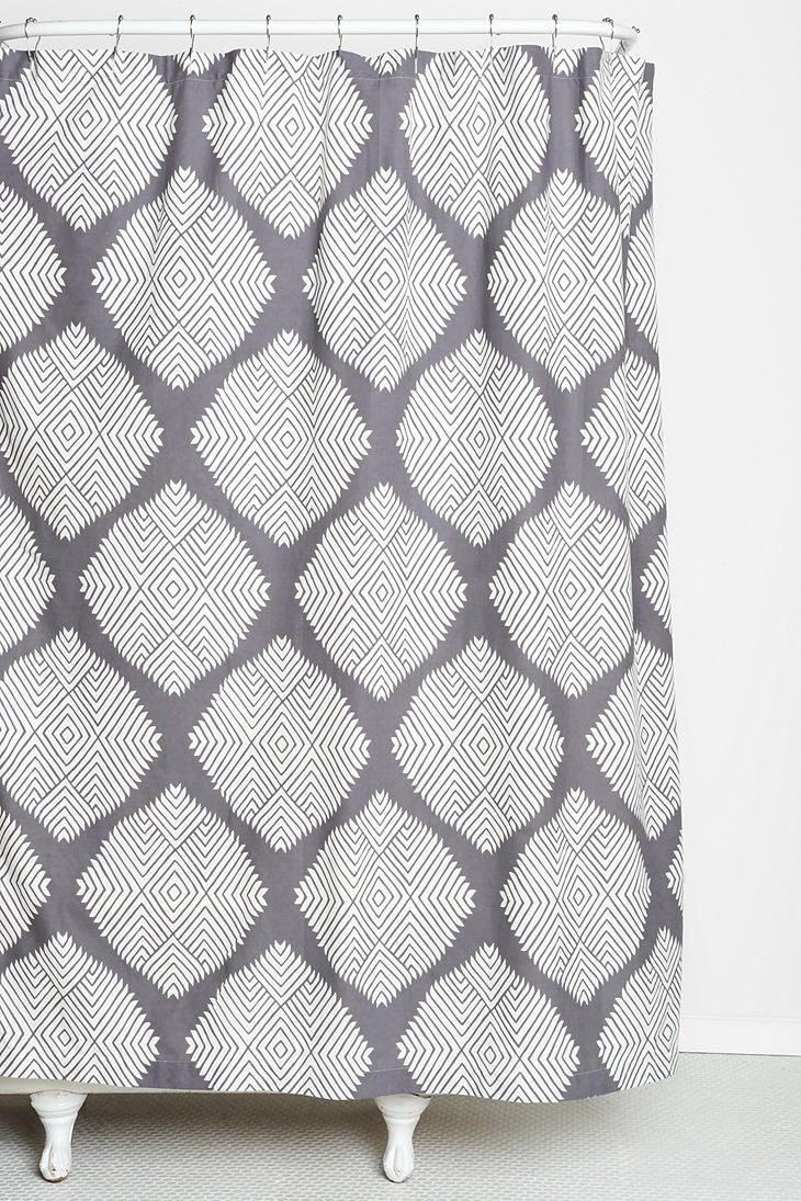 Magical Thinking Diamond Tile Shower Curtain
