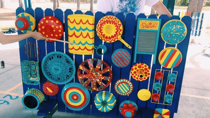 Classroom Decor Cape Town ~ Music wall for an outdoor sound garden at elementary