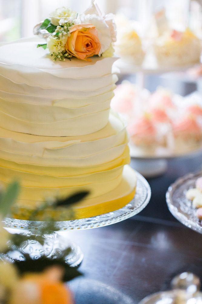 Love this yellow ombre wedding cake! #wedding #cake #photography ...
