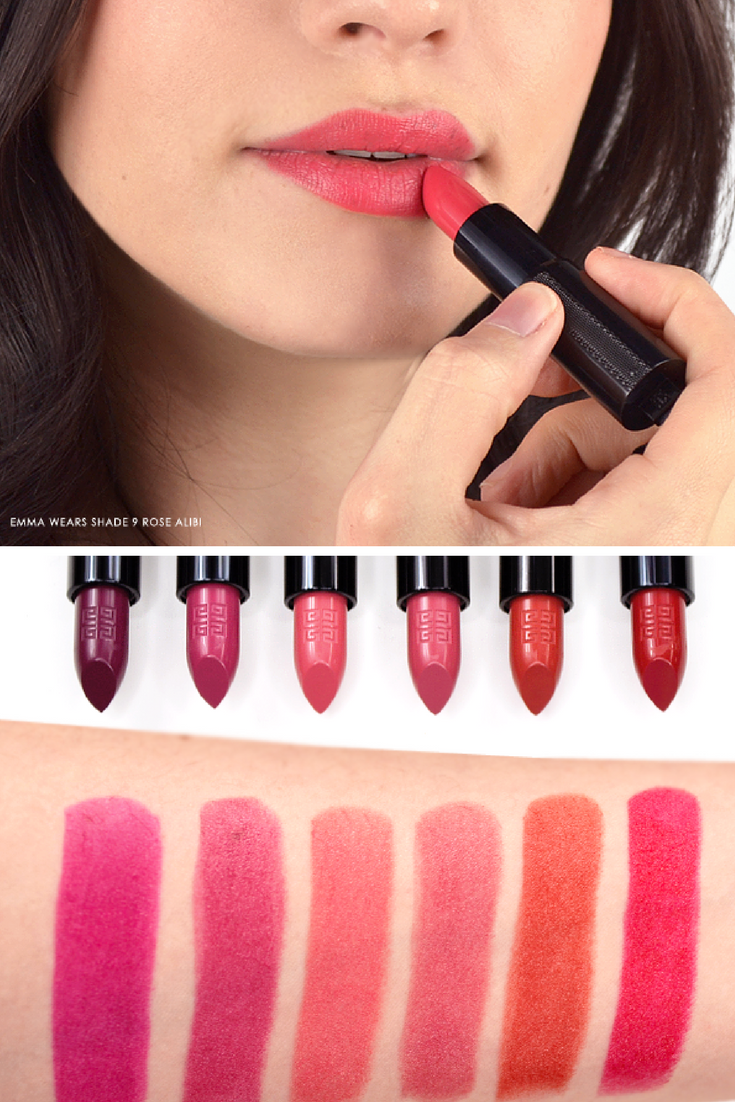 facf4202 Givenchy Rouge Interdit Lipstick Swatches | Beauty | Lipstick ...