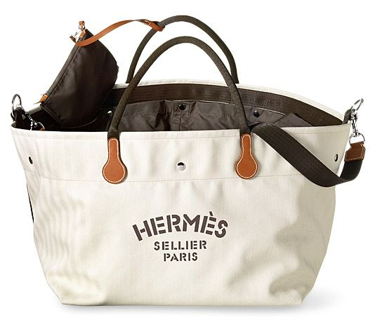 a0389d3d1 Fourre Tout Hermes equipment bag for riders. Herringbone canvas 100% cotton,  polyamide lining. 18