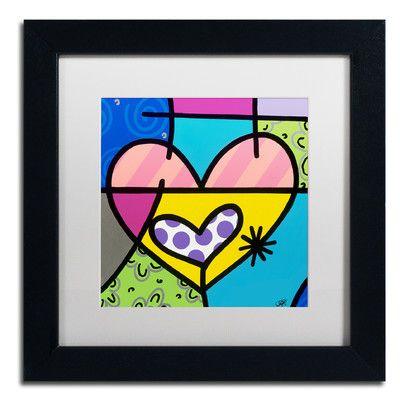 "Trademark Art Big Heart I by Roberto Rafael Framed Painting Print Size: 11"" H x 11"" W x 0.5"" D"
