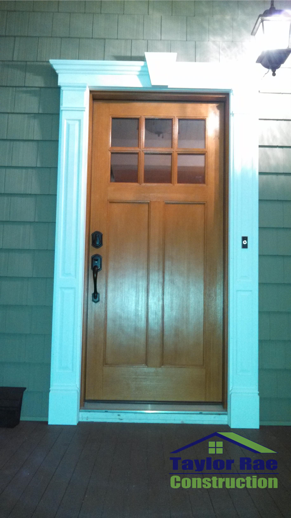 Therma Tru Classic Craft Fiberglass Entry Door With Fypon Door Surround.  Boonton NJ