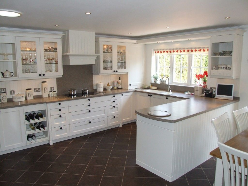 Corian Kitchen Worktops In Matterhorn On Traditional Hand Painted Kitchen  Designed By Colliers Kitchens In West Sussex And Fabricated By Counter  Production ...