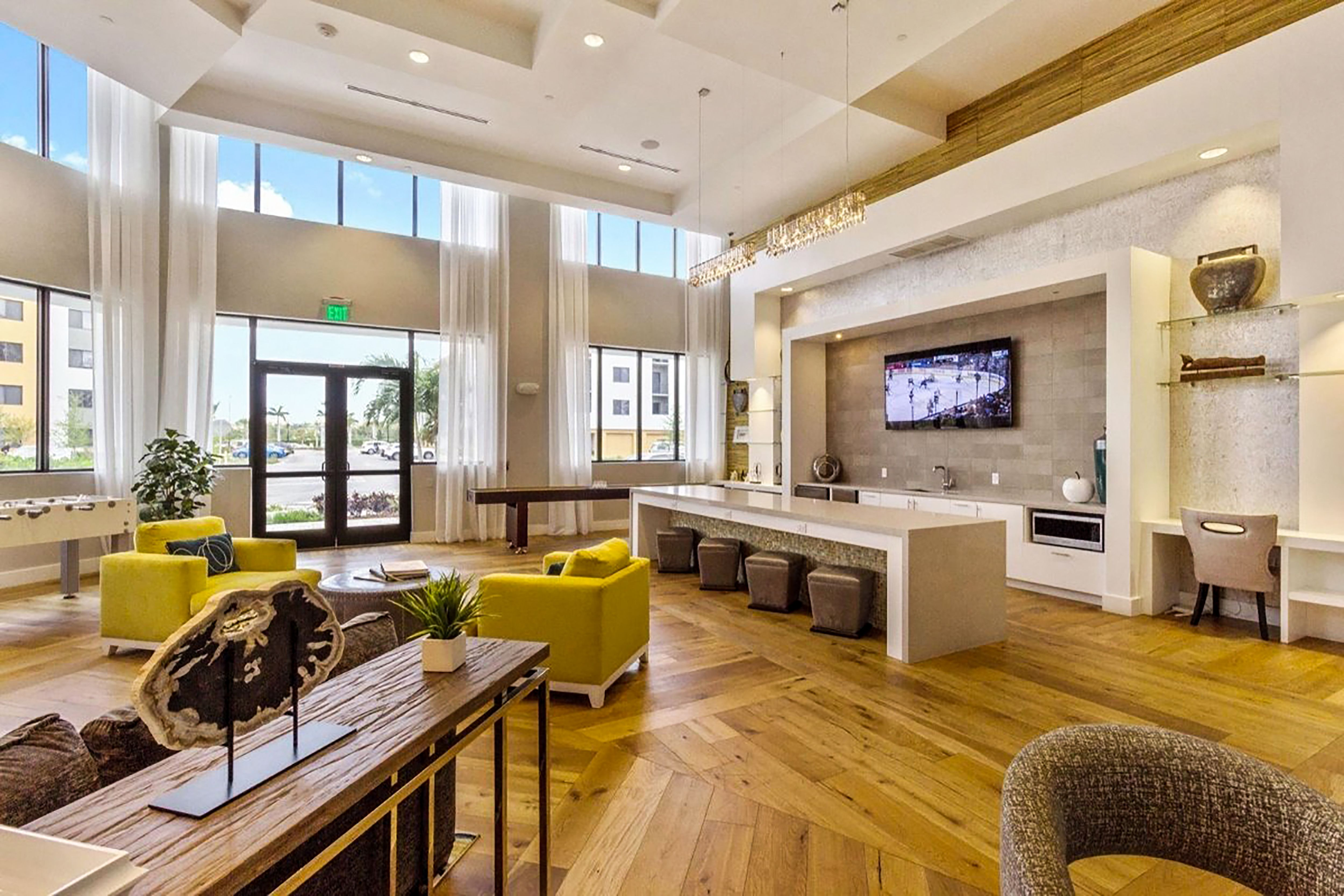 A Apartment Amenity Space In Miami Fl House Design Kitchen Lounge Interiors Clubhouse Design