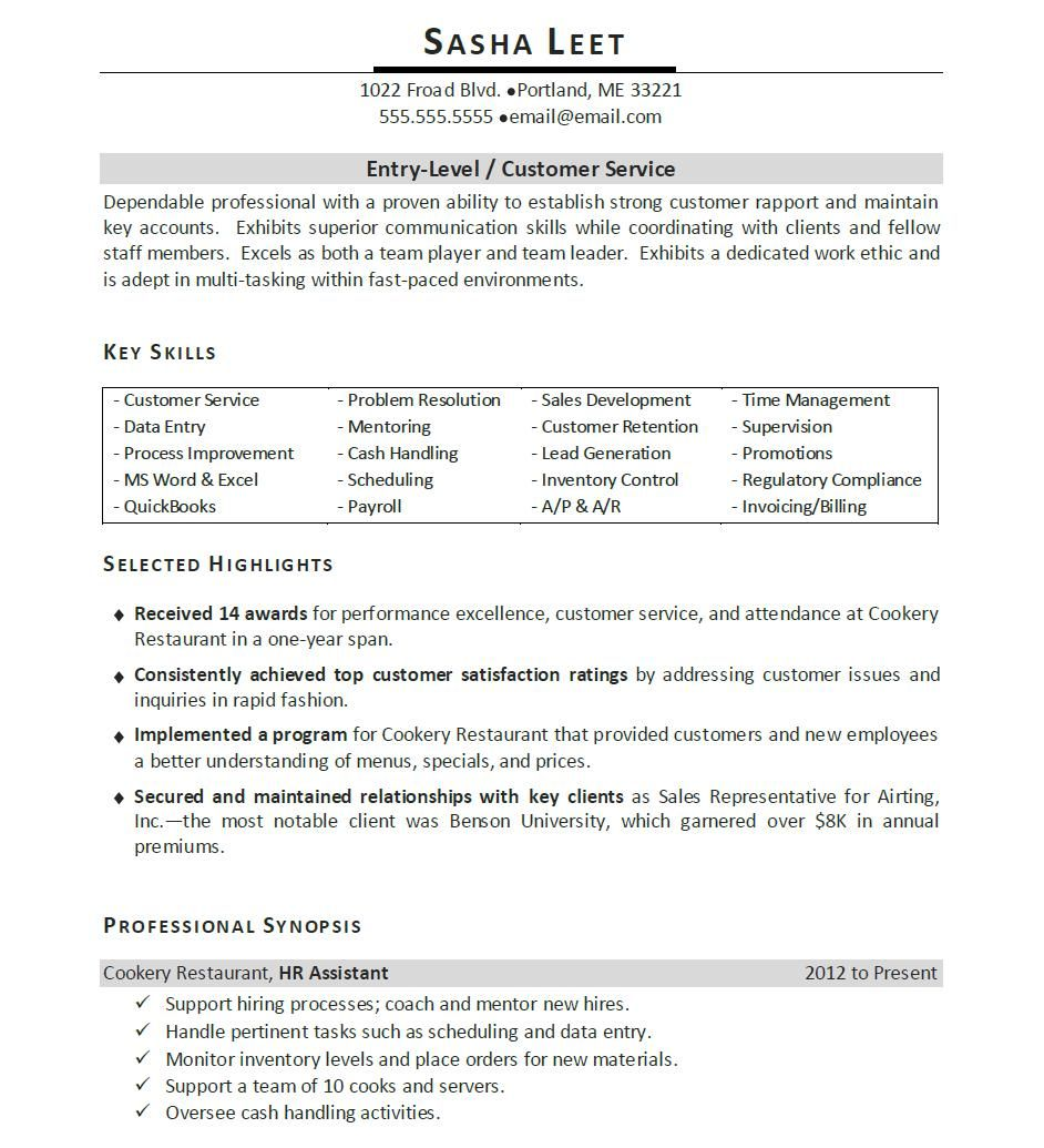 Project Manager Resume Example Examples Of A Basic Resume Template  Httpwwwresumecareer